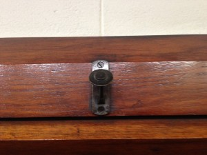 Why are there hooks in a court room?