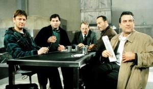 The ensemble cast of Ronin, featuring Sean Bean, Jean Reno and Robert De Niro.