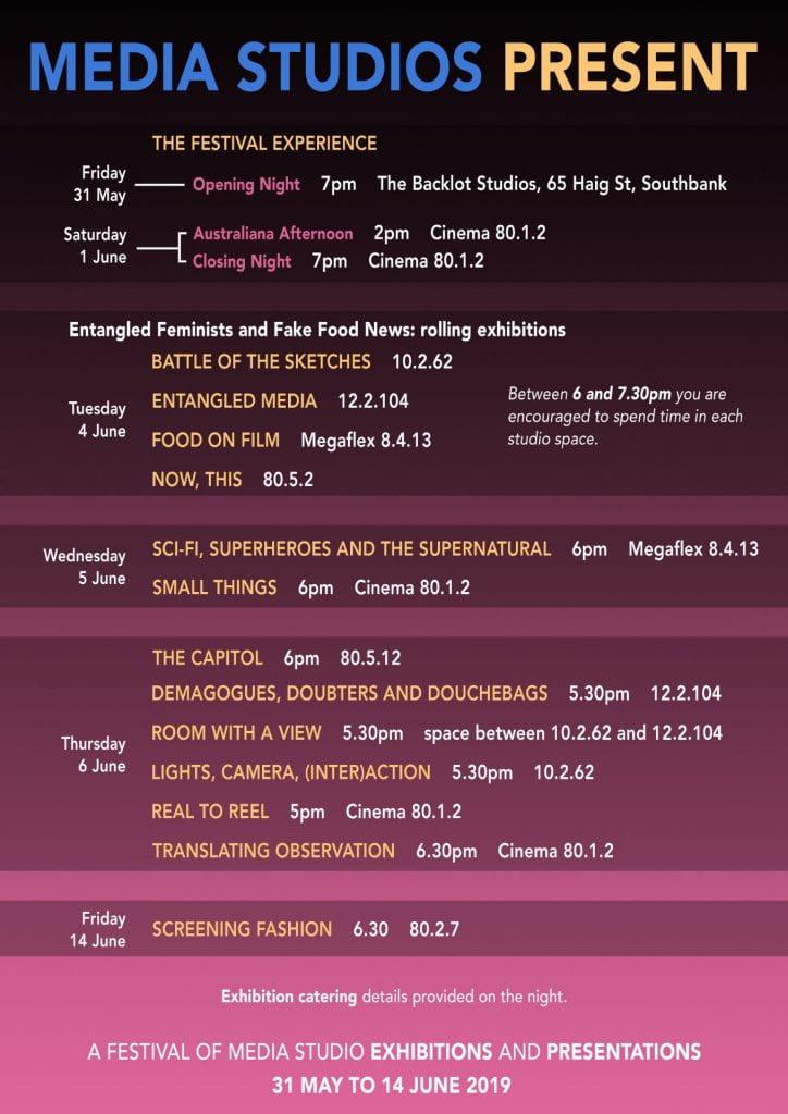Media Studios Present: A Festival of Media!