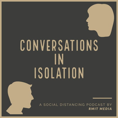 Logo for the Conversations in Isolation Podcast.