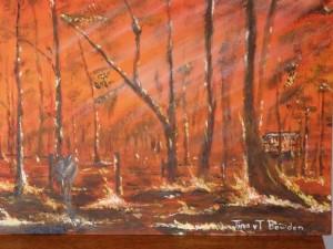 Mum's fire painting