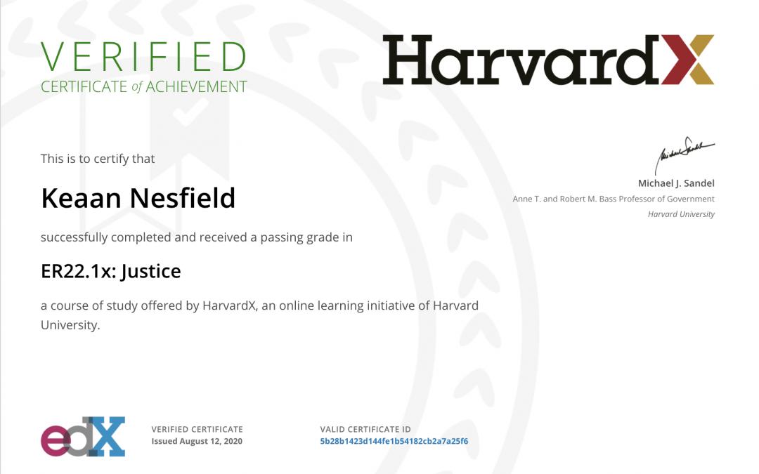 Course: Justice | Harvard