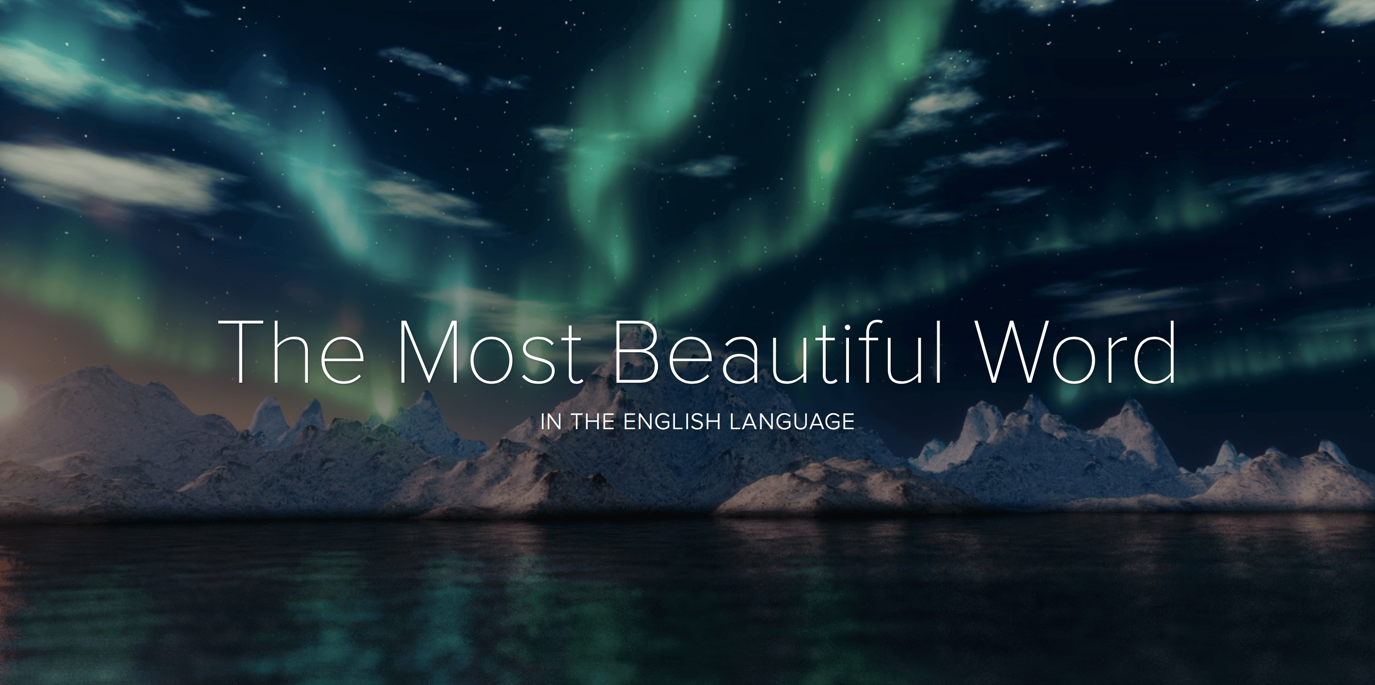Which word surpasses all others in beauty?