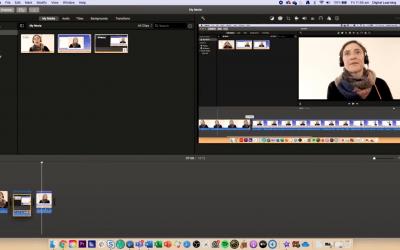 Editing using iMovie on a Mac