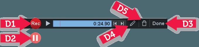 Screen Capture recording bar