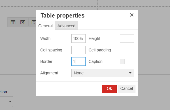 Applying a Border to Tables