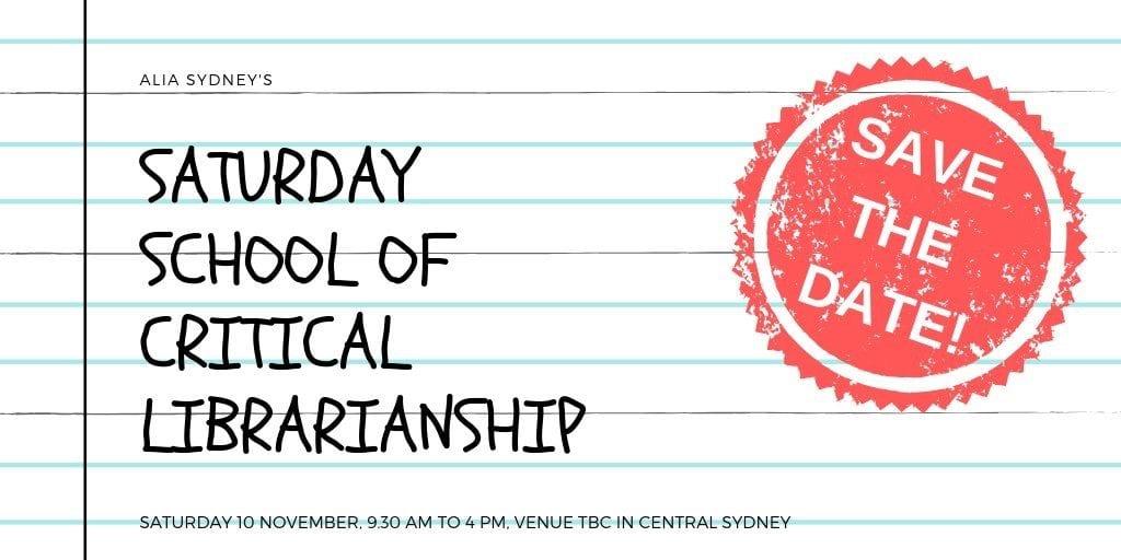 Saturday School of Critical Librarianship