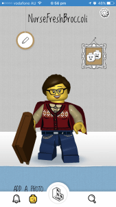 Super Librarian Avatar made in Lego Life