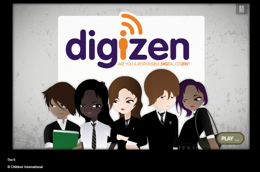 DigiZen Digital Citizenship Game. Source: Childnet International, 2015.