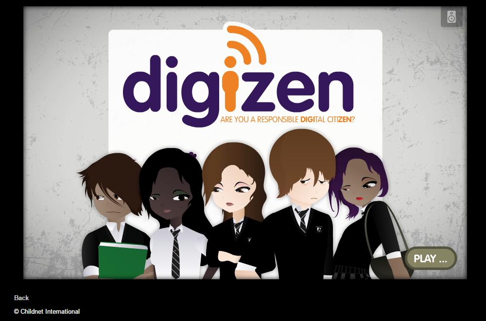 DigiZen Digital Citizenship Game. Source: Childnet International, 2015.