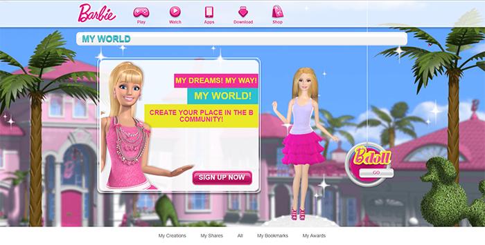 Figure 1: Barbie's My World™