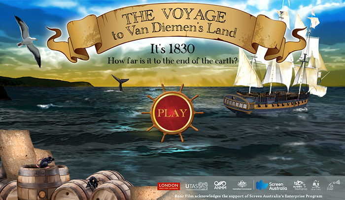 Figure 1: Link to The Voyage to Van Diemen's Land Game (ANMM, 2016)