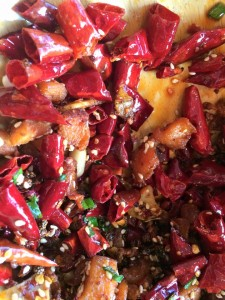 Sichuan peppers at dinner in Chengdu last night