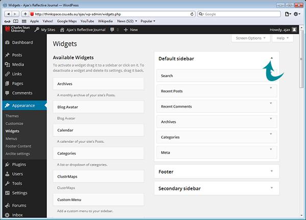 Adding Widgets