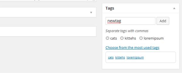 Adding Tags