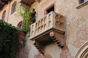 Photograph of Juliet's balcony in Verona