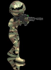 camo clad soldier