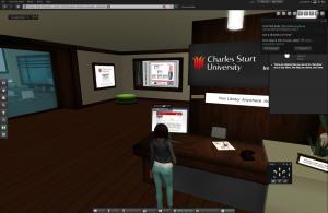 avatar inside Charles Sturt School of Information Studies