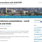 A screen shot of the AUSCCER blog home page...